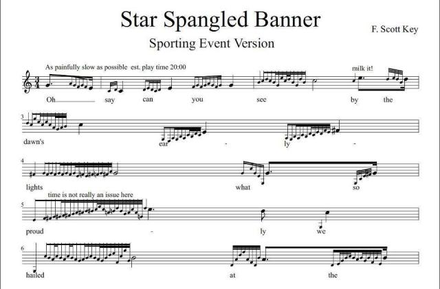 Star Spangled Banner - For Sporting Events