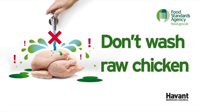 FSA do not wash chicken
